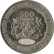 500 Francs CFA -  reverse