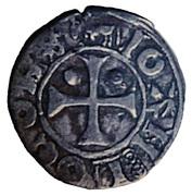 Denier Jean 1er de Grailly (1412-1436) – obverse