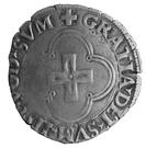 Douzain à la croisette - Henri d'Albret (1516 - 1555) – reverse