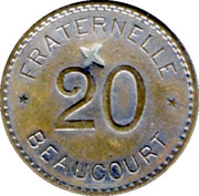 20 Centimes - Fraternelle – reverse