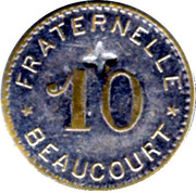 10 Centimes - Fraternelle – reverse