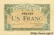 1 Franc - Chambre de Commerce de Beauvais et de l'Oise [60] – obverse