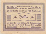 50 Heller (Behamberg) -  reverse