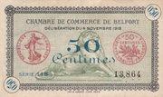 50 centimes - Chambres de Commerce de Belfort – obverse