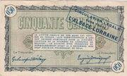 50 centimes - Chambres de Commerce de Belfort – reverse