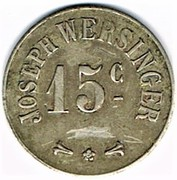 15 centimes - Joseph Wersinger (Belfort (90) – obverse