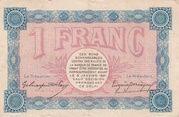 1 Franc - Chambres de Commerce de Belfort – reverse