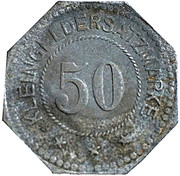 50 Pfennig - Belgern – reverse