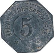 5 Pfennig - Belgern – reverse