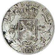 20 Centimes - Léopold I – reverse