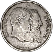 1 Franc - Léopold II (Independence) – obverse