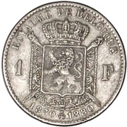 1 Franc - Léopold II (Independence) – reverse