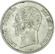 2½ Francs - Léopold I (small head) – obverse