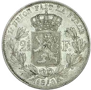 2½ Francs - Léopold I (small head) – reverse