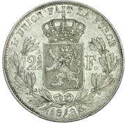 2½ Francs - Léopold I (small head) – reverse