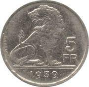5 Francs - Léopold III (BELGIE BELGIQUE) – reverse