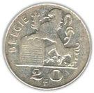 20 Francs - Baudouin I (Dutch text) – reverse