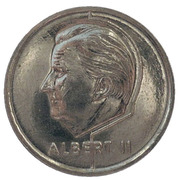 50 Francs - Albert II (French text; European Football Championship) -  obverse