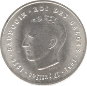 250 Francs - Baudouin I (25th Anniversary of Accession; French text) – obverse
