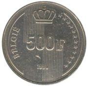 500 Francs - Albert II (dutch text; 60th Birthday of King Baudouin) – reverse