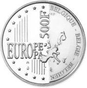 500 Francs - Albert II (Brussels) – reverse