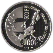 500 Francs - Albert II (Europa and the Bull) – reverse