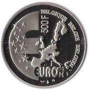 500 Francs - Albert II (Belgian EU Presidency) – reverse