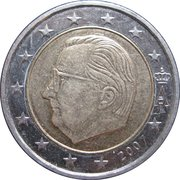 2 Euro - Albert II (2nd map, 1st type, 1st portrait) – obverse