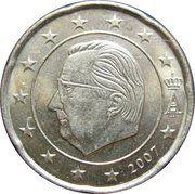 20 Euro Cent - Albert II (2nd map, 1st type, 1st portrait) -  obverse