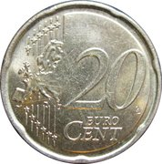 20 Euro Cent - Albert II (2nd map, 1st type, 1st portrait) -  reverse