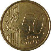 50 Euro Cent - Albert II (2nd map, 2nd type, 2nd portrait) -  reverse