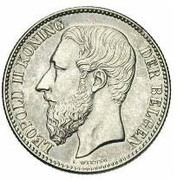 2 Francs - Léopold II (Dutch legend) – obverse