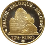 12½ Euro - Albert II (King Baudouin I - Dynasty Anniversary) – reverse