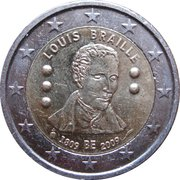 2 Euro - Albert II (Louis Braille) – obverse