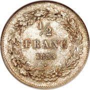 ½ Franc - Léopold I – reverse