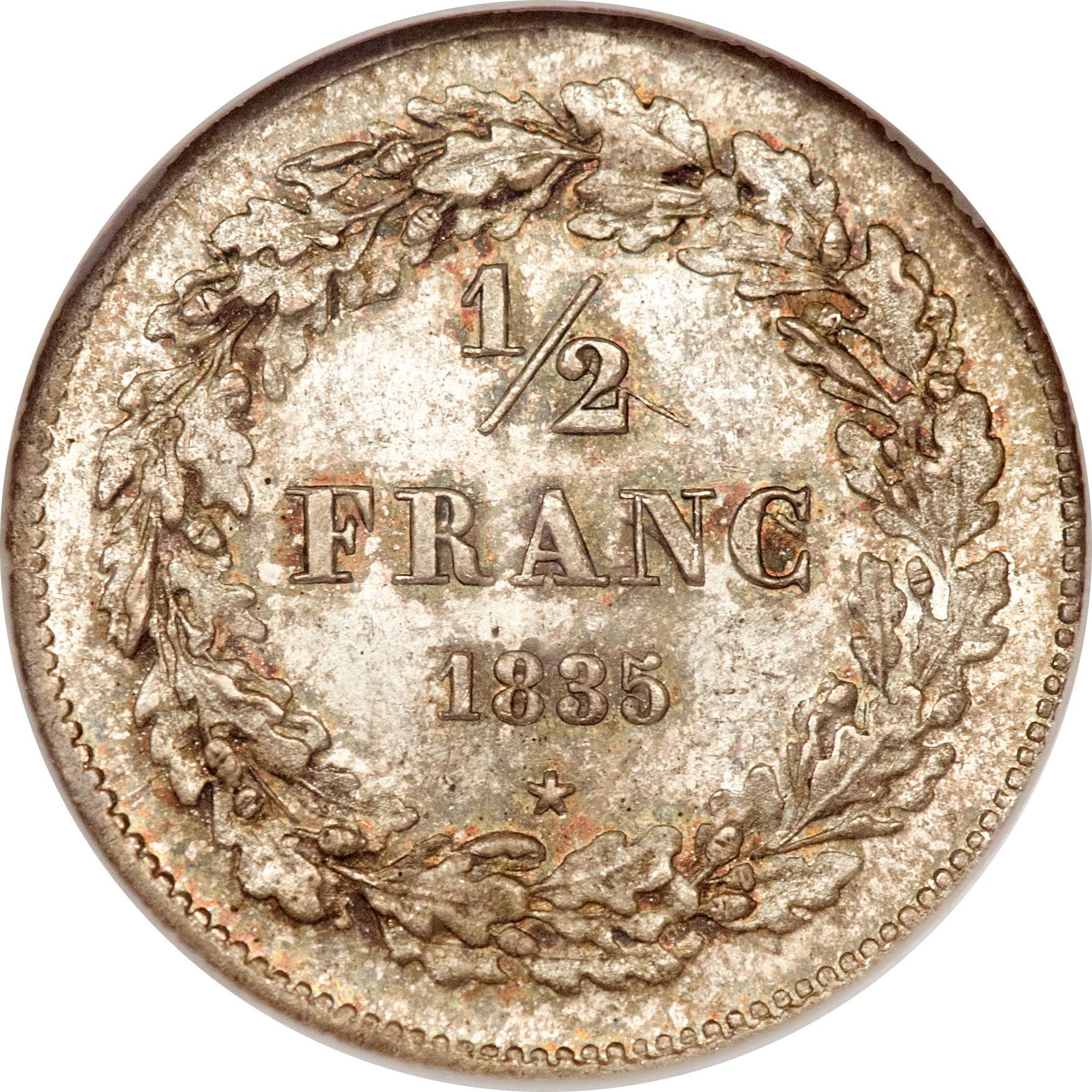 Franc l opold i belgium numista for France francs