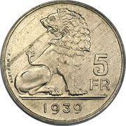 5 Francs - Léopold III (BELGIQUE BELGIE) – reverse
