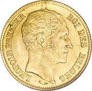 10 Francs - Léopold I – obverse