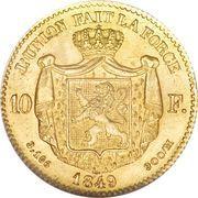 10 Francs - Leopold I – reverse