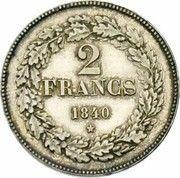 2 Francs - Léopold I – reverse