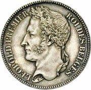 2 Francs - Léopold I (laureate head) – obverse