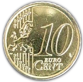 10 Euro Cent - Albert II (2nd map, 2nd type, 2nd portrait) – reverse