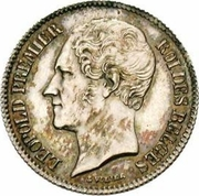 ½ Franc - Léopold I – obverse