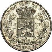 1 Franc - Léopold I – reverse