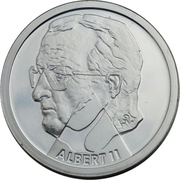 200 Francs - Albert II (German text; Nature) – obverse