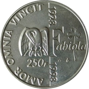 250 Francs - Albert II (Death of Baudouin / Birthday of Fabiola) – reverse