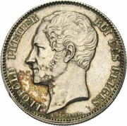 2½ Francs - Léopold I (large head) – obverse