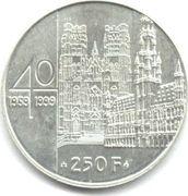 250 Francs - Albert II (Marriage Albert II & Paola) -  obverse