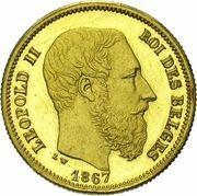 10 Francs - Léopold II – obverse