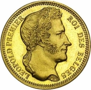20 Francs - Léopold I -  obverse